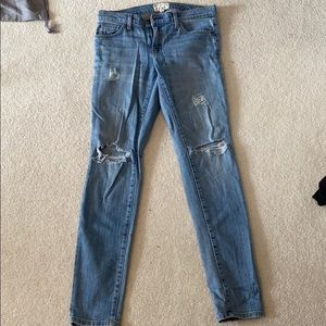 Current Elliott jeans with rips